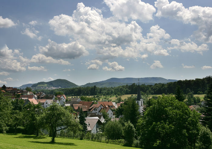 Panoramabild des Ortskerns