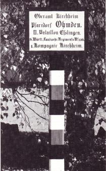 Schild: Pfarrdorf Ohmden